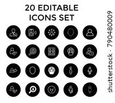 user icons. set of 20 editable...