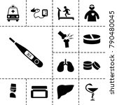 healthcare icons. set of 13... | Shutterstock .eps vector #790480045