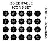photography icons. set of 20... | Shutterstock .eps vector #790480111