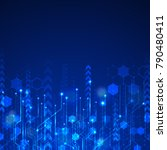 vector abstract futuristic... | Shutterstock .eps vector #790480411