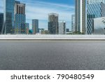 empty urban road and modern... | Shutterstock . vector #790480549