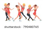 pair figure skating couple boy... | Shutterstock . vector #790480765