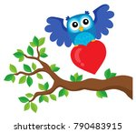 valentine owl topic image 9  ... | Shutterstock .eps vector #790483915