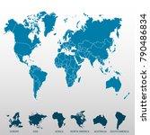 world map. europe asia america... | Shutterstock .eps vector #790486834