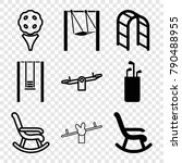 set of 9 swing filled and... | Shutterstock .eps vector #790488955