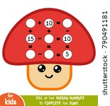 counting game for preschool... | Shutterstock .eps vector #790491181
