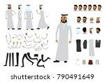 male arab businessman... | Shutterstock .eps vector #790491649