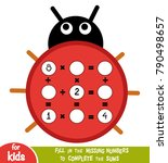 counting game for preschool... | Shutterstock .eps vector #790498657