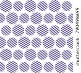 seamless pattern with striped... | Shutterstock .eps vector #790498699