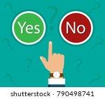 hand  finger pressing buttons... | Shutterstock .eps vector #790498741