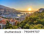 monaco ville harbour sunrise... | Shutterstock . vector #790499707