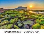 sunrise at jeju do seongsan... | Shutterstock . vector #790499734