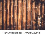 bamboo wall background texture | Shutterstock . vector #790502245