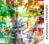grunge textured modern artwork... | Shutterstock . vector #790504891