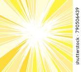 hot and glittering summer sun ... | Shutterstock .eps vector #790506439
