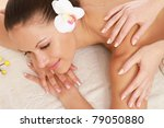 an attractive woman getting spa ... | Shutterstock . vector #79050880