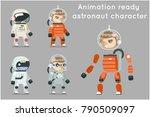 cosmonaut astronaut spaceman... | Shutterstock .eps vector #790509097