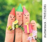 fingers art of family... | Shutterstock . vector #790511581