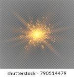 white glowing light burst... | Shutterstock .eps vector #790514479