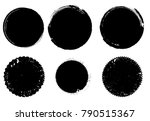 grunge post stamps collection ...   Shutterstock .eps vector #790515367
