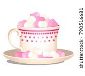 porcelain cup filled with a... | Shutterstock .eps vector #790516681