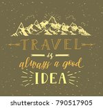 mountain and forest. vector... | Shutterstock .eps vector #790517905