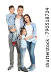 happy family with little... | Shutterstock . vector #790518724
