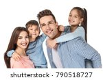 happy family with little... | Shutterstock . vector #790518727