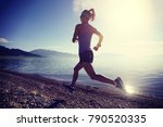 young fitness sporty woman... | Shutterstock . vector #790520335