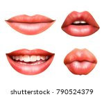 mouth body language icons set... | Shutterstock .eps vector #790524379