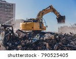 Excavator Working On A...