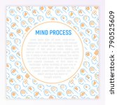 mind process concept with thin...   Shutterstock .eps vector #790525609