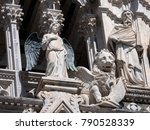 Statues Of Angel  Lion And...