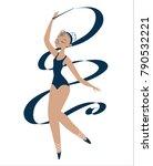 Ballerina In A Blue Swimsuit....