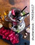 traditional swiss fondue with... | Shutterstock . vector #790534117