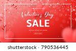 red promo web banner for... | Shutterstock .eps vector #790536445
