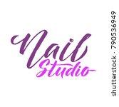 nail studio logo beauty vector... | Shutterstock .eps vector #790536949