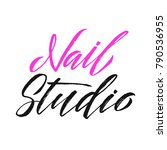 nail studio logo beauty vector... | Shutterstock .eps vector #790536955