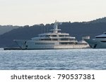 luxury yacht in a harbour in... | Shutterstock . vector #790537381