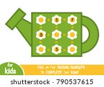 counting game for preschool... | Shutterstock .eps vector #790537615