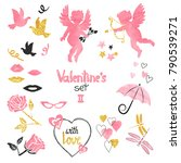 valentines set. collection of... | Shutterstock .eps vector #790539271
