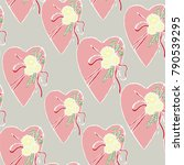 vector hand drawn romantic... | Shutterstock .eps vector #790539295