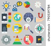 icon set about marketing with... | Shutterstock .eps vector #790539784