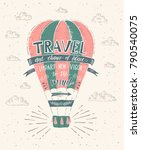 travel. vector hand drawn... | Shutterstock .eps vector #790540075
