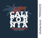 California Surfing Typography....