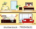illustration of modern flat... | Shutterstock .eps vector #790545631