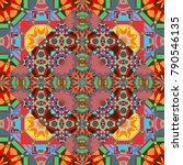 geometrical abstract tiles... | Shutterstock .eps vector #790546135