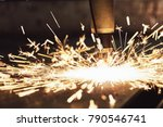 laser or plasma cutting... | Shutterstock . vector #790546741