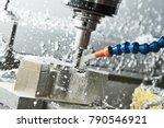 milling metalworking process.... | Shutterstock . vector #790546921