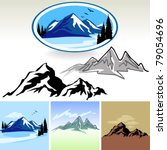 amazing mountain and hills... | Shutterstock .eps vector #79054696